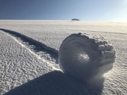 Rulli di neve nello Wiltshire (UK)