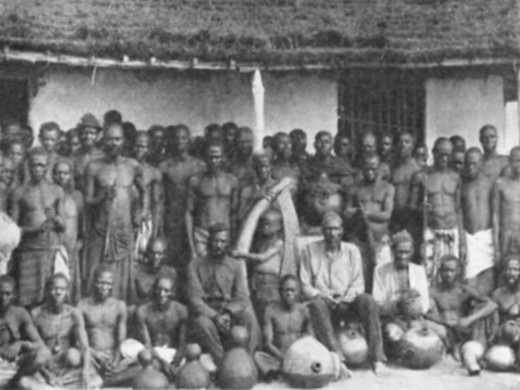 Un gruppo di Baluba nel 1908