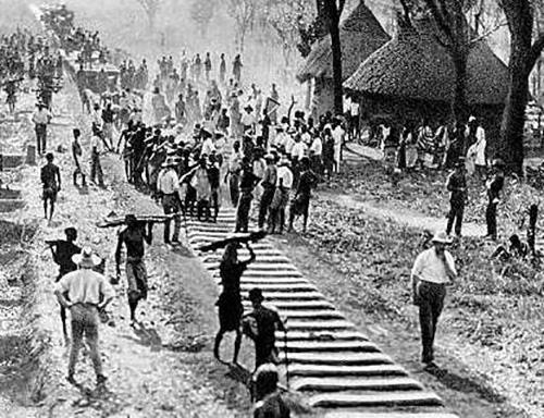 Elisabethville - Costruzione della ferrovia 1910