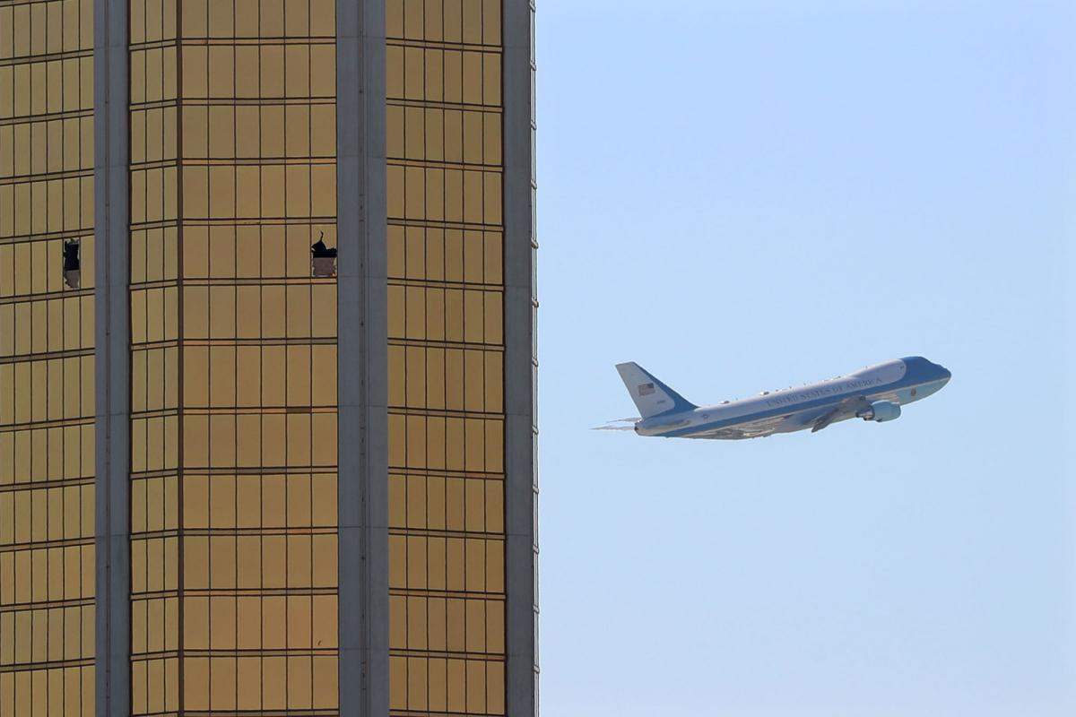L'Air Force One riparte da Las Vegas